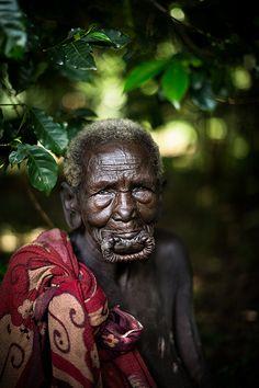 Old Suri Woman Ethiopia