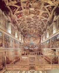 Sistine Chapel ... currently home to a conclave of cardinals :P