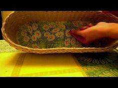 Декупаж плетеных изделий. Плетение из газетных трубочек. - YouTube