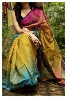 Cotton Saree Blouse Designs, Wedding Saree Blouse Designs, Silk Cotton Sarees, Half Saree Designs, Cotton Silk, Wedding Sarees, Trendy Sarees, Stylish Sarees, Simple Sarees