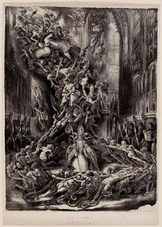 """centuriespast:  """" La Ronde du Sabbat (The Round of the Sabbath or Witches' Sabbath)  1828  Louis Boulanger (French, 1806–1867)  mfa boston  """""""