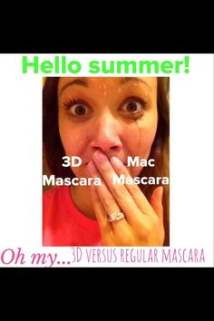 """Yes ladies I have this awesome """"lash crack"""" Get 300% length increase with this amazing mascara!  It is water and sweet proof!  Come on summer!   www.nadine4younique.com"""