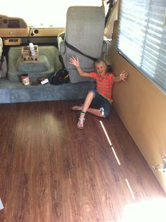rv remodel series, flooring; contains a reference to EZ Cool which is an automotive thermal insulation to use under floor to reduce engine heat. Rv Redo, Waterproof Flooring, Rv Makeover, Remodeled Campers, Camping Life, Gmc Motorhome, Motorhome Interior, Rv Living, Gypsy Living