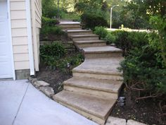 Concrete stoops & stairs are needed wherever there may be a change in elevation.  Steps can be installed not only for front entrances to a home or business.