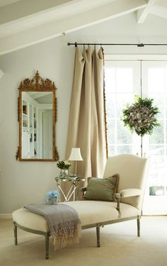 Burlap curtains. want to do this for my sliding doors in the kitchen!