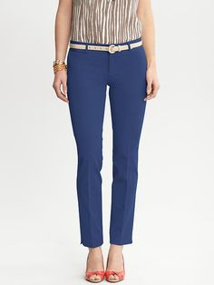 Banana Republic | Sloan fit slim ankle pant ... Could I get away with these at work this summer? Gonna try....