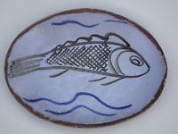 RARE MICHAEL CARDEW ABUIA NIGERIA SLIPWARE FISH DISH 1965 Studio Pottery Pottery Marks, Antique Pottery, Fish Dishes, Earthenware, Crock, Textiles, Ceramics, Contemporary, Studio
