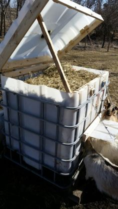 Build Your Own Small Square Bale Feeder Farm And Garden Grit