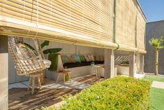 Stijlvolle veranda bamboe zonwering - Styling-ID