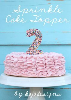 how to make a sprinkled cake topper