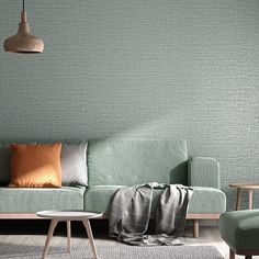 Simple Plain Metallic Grasscloth Textured Wallpaper Dinning Room Bedroom Background Wall Paper Blue,