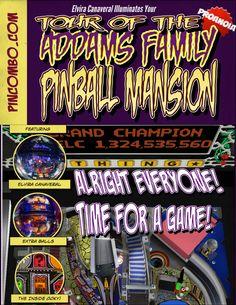 Addams Family Pinball Bookcase Decal Set Mod Book Case
