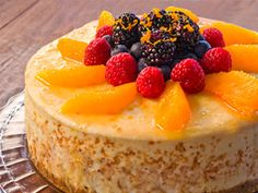 Smithfield Recipes: Outrageous Yankee Cheesecake with Citrus Glaze