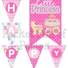 SALE 15% OFF SALE  Percent15 Off Princess Birthday Party Pack Package Digital Download Diy Printable pink purple custom