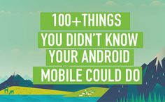 Android phone can do much more than we think, here we collect some best uses of android device in your daily life, If you try all of these tricks , you became a pro user of android phone.