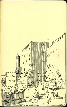 Walls of Jerusalem, by Vincent Mahé (sketchbooks)