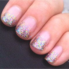 glitter gradient, makes me think of cupcake frosting