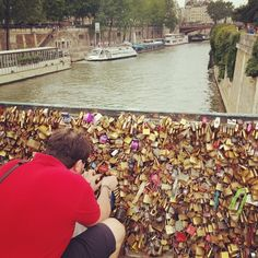 Love locks in #paris! #travel #wanderlust