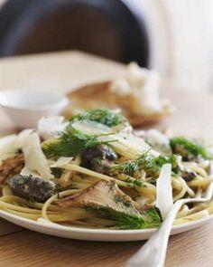 Mushroom and Dill Pasta.