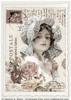Старинные открытки Фишер 1 на Craftsuprint разработанный Полина Черная - все популярные Харрисон Фишер дамы! Это набор из девяти красиво оформленные старинные открытки, А4 топперы. - Теперь доступна для скачивания!