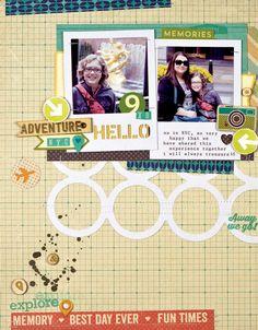 Scrapbook  Cards Today - Adventure by Melanie Blackburn