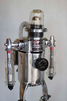 SkatePunk  Robot  Found Object Assemblage Sculpture by RecycloJoe, $500.00