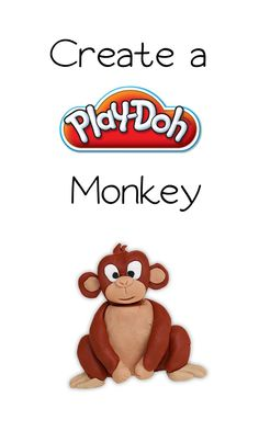 "Let""s get creative!  Roll a ball of Play-Doh compound and create a Play-Doh Monkey"