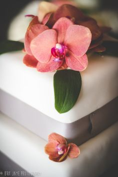 Orchid Wedding Cake, Modern Simple Wedding Cake, Wedding Food, The Marine Room Wedding Reception in San Diego, CA - for more ideas and wedding photography inspiration, check out my blog! http://www.britjaye.com/blog #sandiegoweddingphotography #weddingphotography #weddingphotos #weddingphotographer
