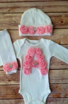 Hey, I found this really awesome Etsy listing at http://www.etsy.com/listing/173901083/monogrammed-newborn-outfit-baby-girl