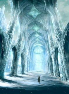 fantasy ice castle - Buscar con Google