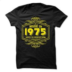 Made in 1975 Aged to Perfection yellow - #tshirt estampadas #tshirt couple. SIMILAR ITEMS => https://www.sunfrog.com/Birth-Years/Made-in-1975-Aged-to-Perfection-yellow.html?68278