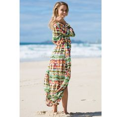 2017 Beach Cover up Women Ethnic Style Long Beach Smock Digital Painting Colorful Beach Cardigan Coverup Sunscreen Clothes 835