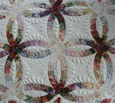 Image result for Watercolor Double Wedding Ring Quilt
