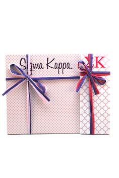 "Sigma Kappa  3"" x 8"" and 8"" x 8"" Note Pads from South Bound Sisters"