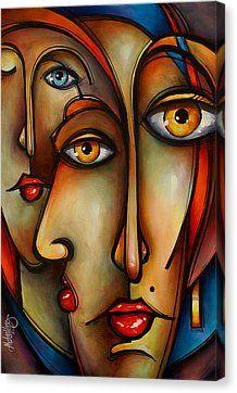 RED Canvas Print by Michael Lang Abstract Face Art, Abstract Portrait, Cubism Art, Red Art, Arte Pop, Fine Art America, Art Drawings, Canvas Art, Art Prints