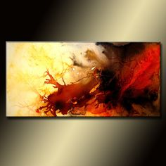 Abstract Painting Original Abstract painting by newwaveartgallery, $550.00