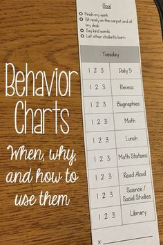 Adding goals to the top of the behavior chart and a rubric next to each part of our day has made all the difference this year! It helps students see where they are going and measure success. • Behavior Charts - When, Why, and How to Use Them • What I Have Learned -