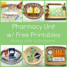 Every Star Is Different: Pharmacy Unit w/ Free Printables