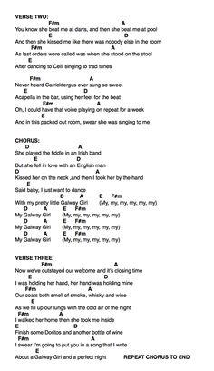 Galway girl ukulele part 2