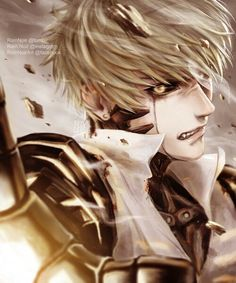 Genos, crying, sad; One Punch Man