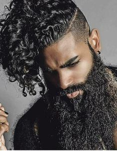 Tips for awesome looking hair. An individual's hair is without a doubt precisely what can define you as an individual. To the majority of people today it is undoubtedly important to have a good hair do. Gorgeous Black Men, Handsome Black Men, Beautiful Men, Black Man, Black Men Beards, Gorgeous Hair, Absolutely Gorgeous, Black Men Hairstyles, Haircuts For Men
