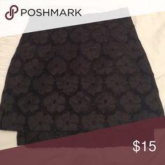 TOPSHOP black flower sparkly skirt TOPSHOP black flower sparkly skirt Topshop Skirts Mini
