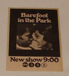 Barefoot in the Park is an American sitcom that aired in 1970 on ABC. Based on the Neil Simon Broadway play of the same name, the series cast members are predominantly black, making it the first American television sitcom since Amos 'n' Andy to have a predominantly black cast (Vito Scotti is the sole major white character). Barefoot in the Park had also previously been a successful 1967 film starring Robert Redford and Jane Fonda.