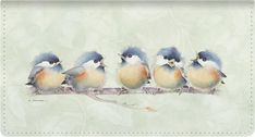 Chorus Line Leather Wallet Style Checkbook Cover - Checkbook Covers - Checkbook Covers - Artistic Checks Watercolor Bird, Watercolor Animals, Watercolor Paintings, Watercolors, China Painting, Bird Drawings, Bird Pictures, Cute Birds, Learn To Paint
