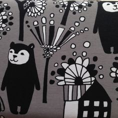 Backpack Bear - Grey by PAAPII Design (Finland) - Organic Cotton Jersey http://www.simplififabric.com/ - good source for euro knits