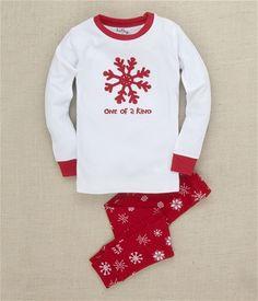 "Hatley Store: Hatley Snowflakes ""One of a Kind"" Kids' Pajama Set"