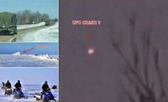 Images of the moment of the fall of UFO in Canada ( Record of Amateur Filmmaker)