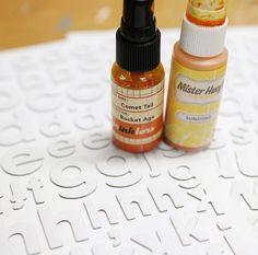 Custom Ombree Letters :: A Tutorial - Megan Klauer Design