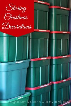 Storing Christmas Decorations - Organize and Decorate Everything