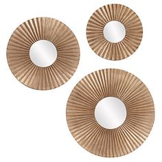 Buy the Howard Elliott 14268 Bronze Direct. Shop for the Howard Elliott 14268 Bronze Set of 3 Circular Mirrors from the Malinda Collection and save. Set Of 3 Wall Mirrors, Mirror Set, Floor Mirror, Round Mirrors, Mantel Mirrors, Mirror Room, Mirror Glass, Bronze Highlights, Circular Mirror